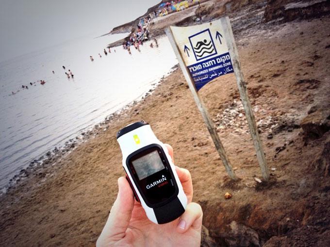 Virb тестирование на Мертвом море