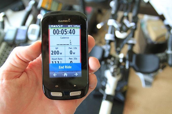 Велонавигатор Garmin Edge 1000. Тренировка в помещении