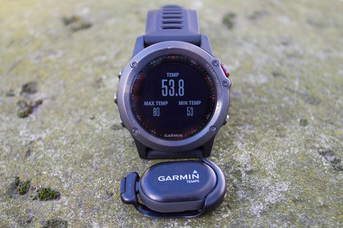 Мультиспортивные смарт часы fenix 3. Датчик температруры Garmin