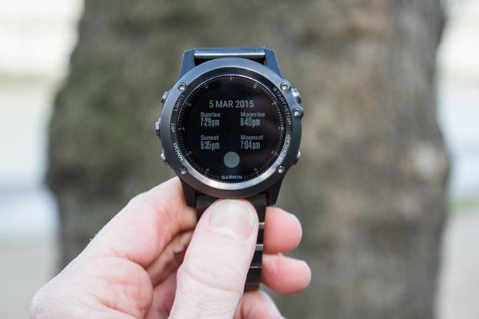 """GPS-часы fenix 3. Функция """"Солнце и луна"""""""