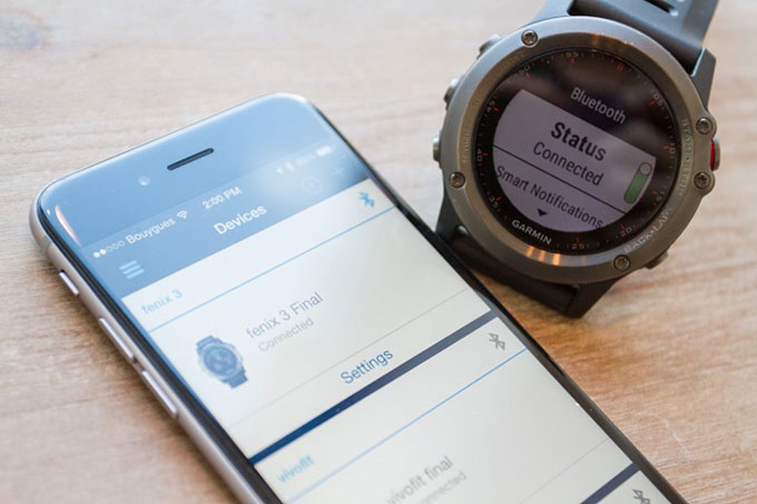 GPS-часы для мультиспорта и туризма Garmin fenix 3. Синхронизация со смартфоном