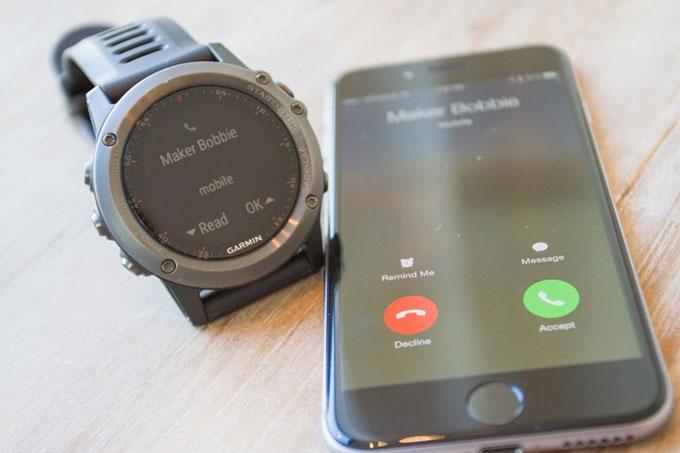GPS-часы для мультиспорта и туризма Garmin fenix 3. Смарт уведомления
