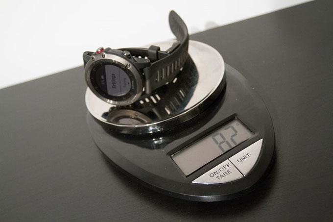 Туристический навигатор Garmin fenix 3, Сравнение веса
