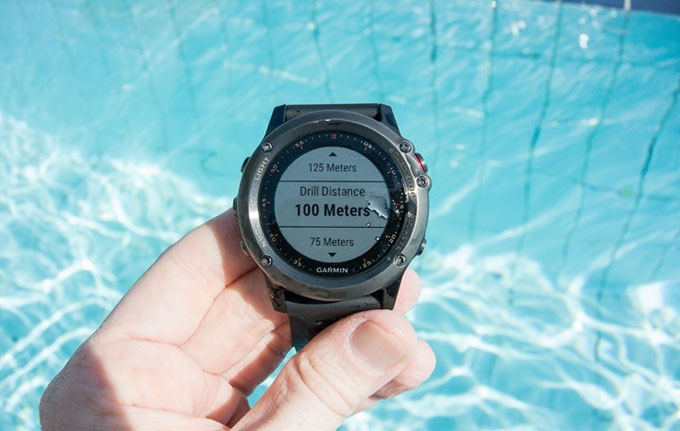Часы для триатлона Garmin fenix 3. Плавание в бассейне