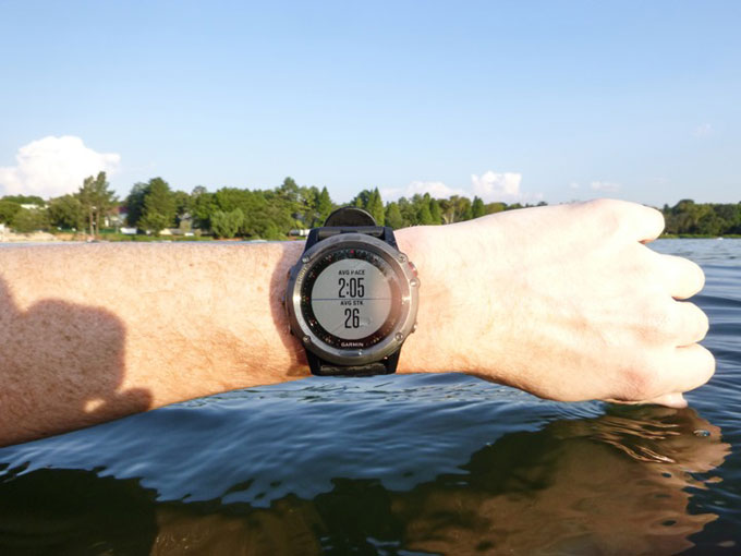 Мультиспортивные часы Garmin fenix 3. Плавание в открытой воде