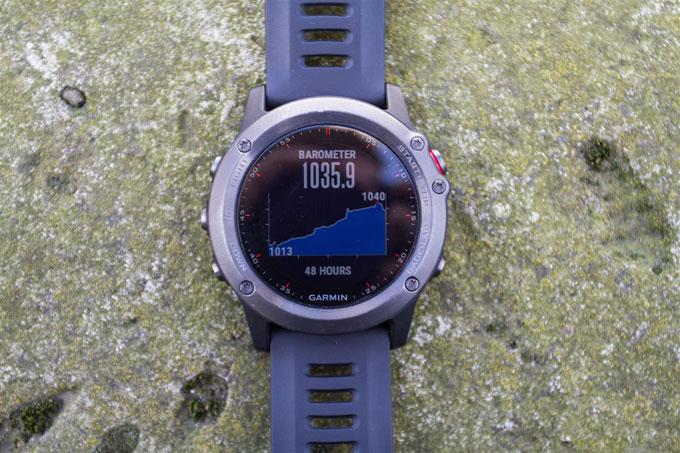 GPS навигатор Garmin fenix 3. Барометрические данные