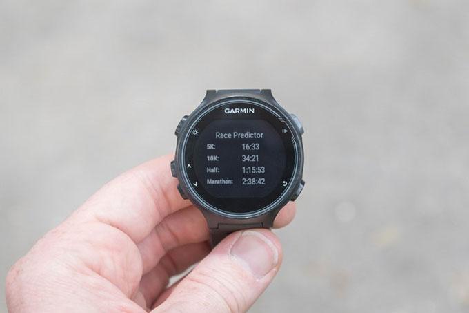 Часы Forerunner 735XT. Расчет примерного времени для соревнований