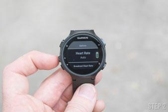 Часы Forerunner 735XT. Передача данных сердечного ритма