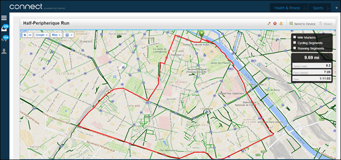 GPS навигатор для мультиспота Garmin Forerunner 920XT. Навигационный функционал