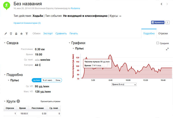 Фитнес-браслет Garmin vivofit Garmin Connect