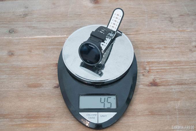 Часы Garmin Forerunner 630 весят 45 грамм