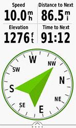 Oregon 750. Навигация