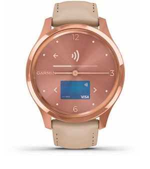Годинник vivomove Luxe. Garmin Pay