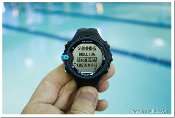 Garmin Swim - таймер отдыха