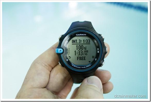 Garmin Swim - завершение тренировки
