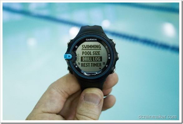 Garmin Swim - журнал упражнений