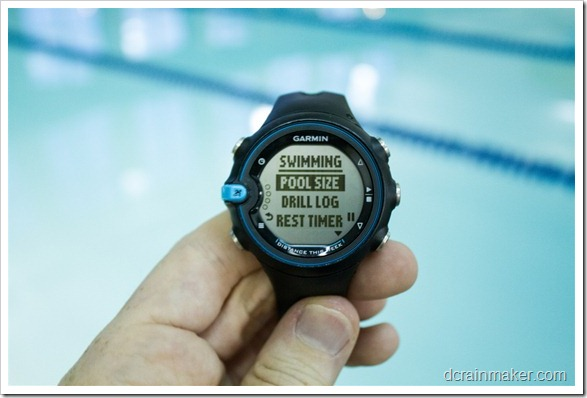 Garmin Swim - размеры бассейна